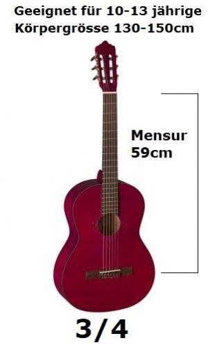 3/4 Klassische Gitarren